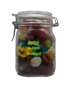 Snoep winegum mix in bedrukbare / personaliseerbare pot
