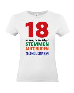 Dames T-shirt 18 jaar (Wit)